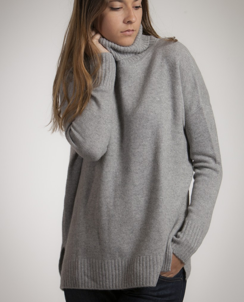 c4b80a66702 Pull femme col montant - Laine et tricot