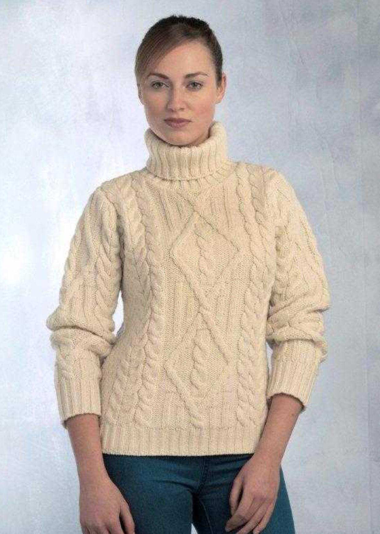 Pull col roule femme