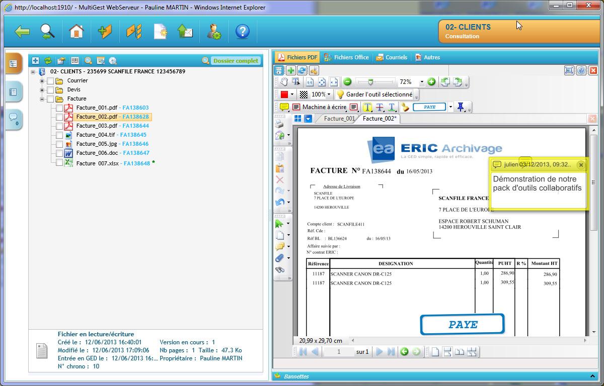 Information ged : pour stocker les données administratives